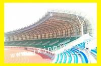云南临沧体育场膜结构看台已完工