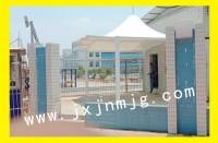 吉安市吉安县博硕五期招工区膜结构遮阳棚已完工